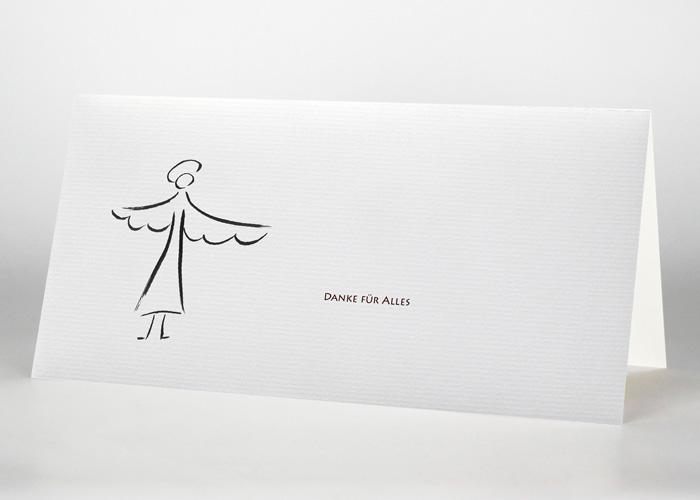 Engel mit ausgebreiteten Flügeln - Danksagungskarte Motiv S-04