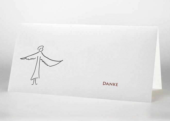 Engel mit ausgebreiteten Flügeln - Danksagungskarte Motiv S-05