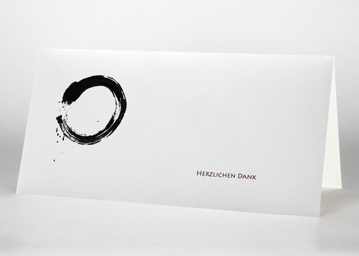 Mit Tusche gezeichneter Kreis - Danksagungskarte Motiv S-07