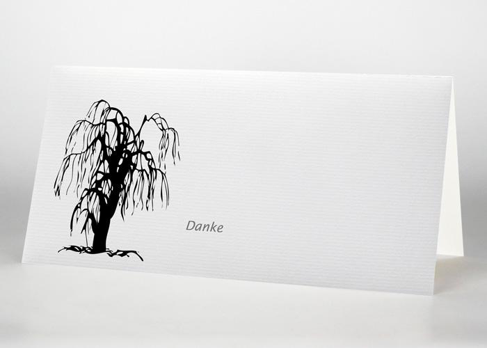 Symbolisierte Trauerweide - Danksagungskarte Motiv S-13