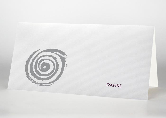 Gezeichnete Spirale - Danksagungskarte Motiv S-16