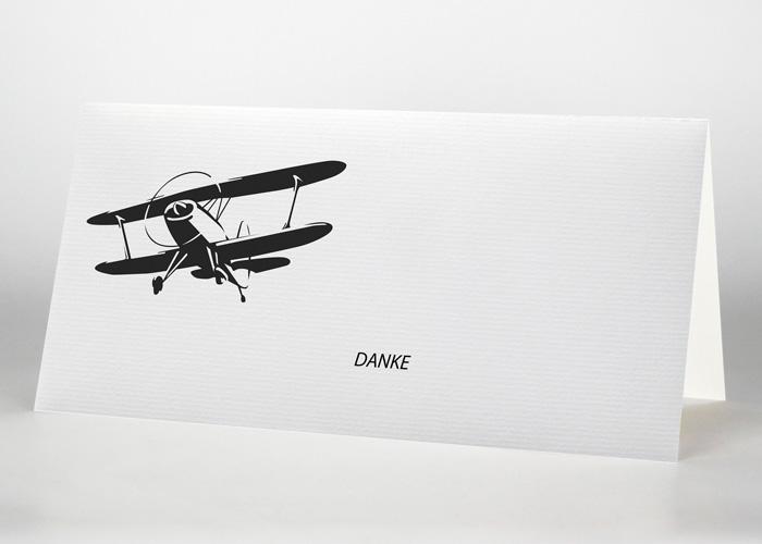 Gezeichnetes fliegendes Danksagungskarte - Trauerkarte Motiv S-20