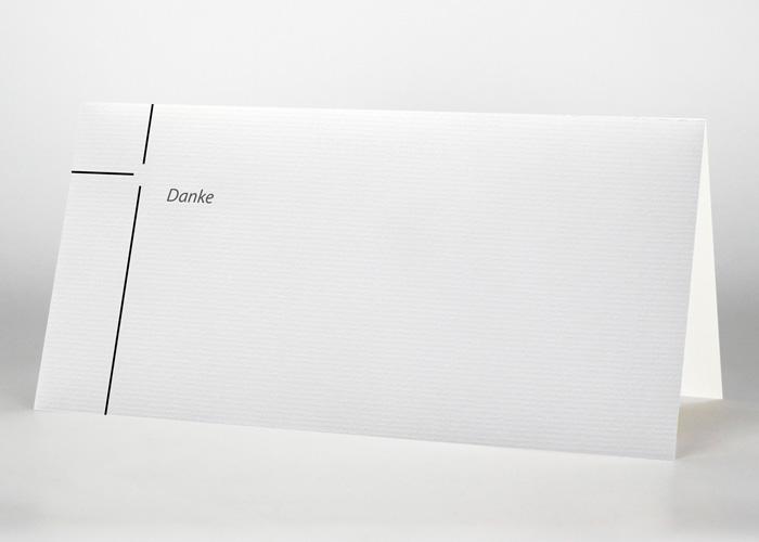 Dünnes Kreuz - Danksagungskarte Motiv S-23