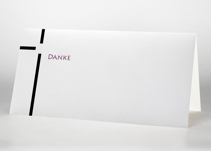 Dickes Kreuz - Danksagungskarte Motiv S-24