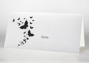 Aufsteigende Schmetterlinge - Danksagungskarte Motiv S-42