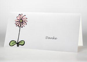 Gezeichnete Blume - Danksagungskarte Motiv S-45