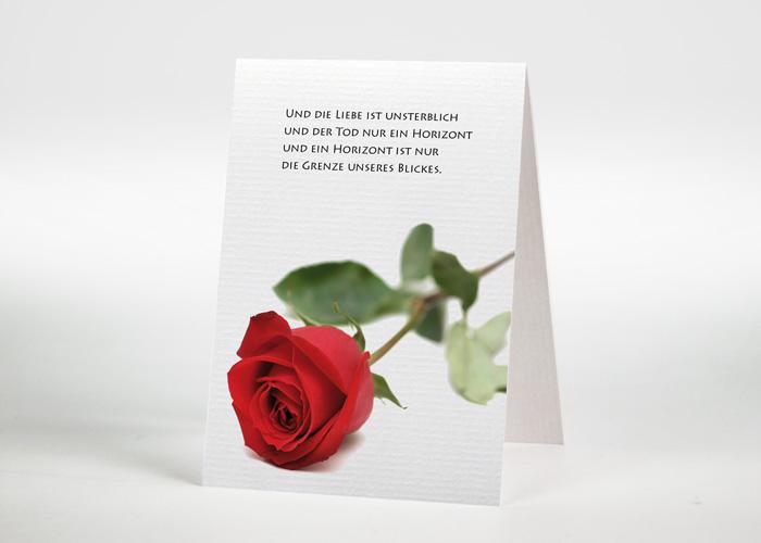 Rote Rose - Sterbebildchen Motiv B-03