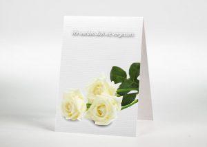 Weiße Rose - Sterbebildchen Motiv B-04