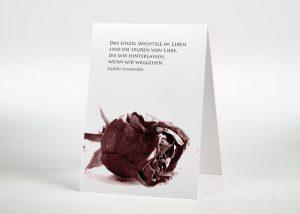 Getrocknete Rote Rose - Sterbebildchen Motiv B-06