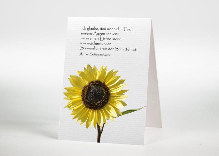 Sonnenblume - Sterbebildchen Motiv B-09