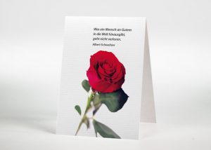 Rote Rose - Sterbebildchen Motiv B-22
