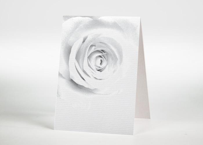 Verblassende Rose - Sterbebildchen Motiv B-28