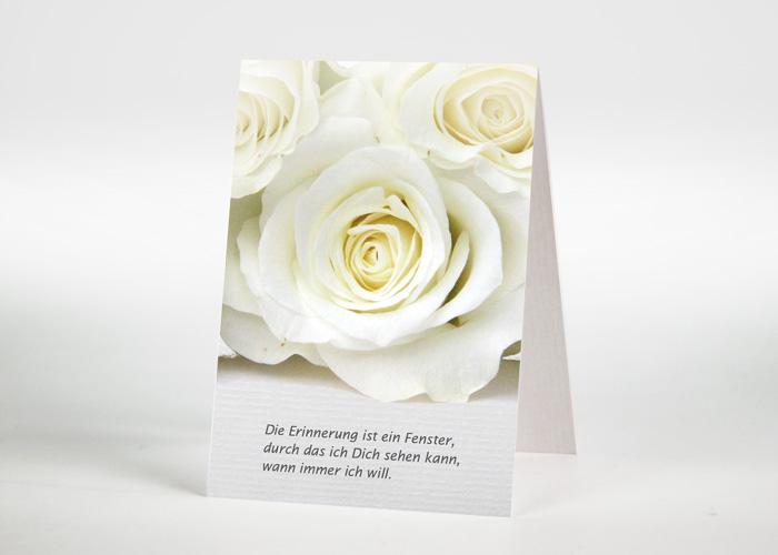 Weiße Rosen - Sterbebildchen Motiv B-31
