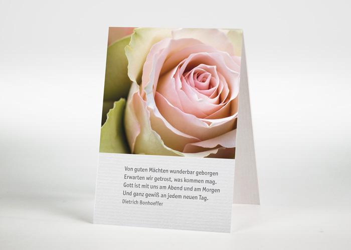 Rosafarbene Rosen - Sterbebildchen Motiv B-36