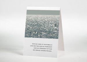 Glitzerndes Meer - Sterbebildchen Motiv F-25