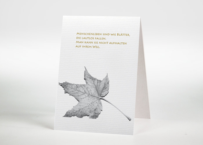 Herbstblatt - Sterbebildchen Motiv F-31