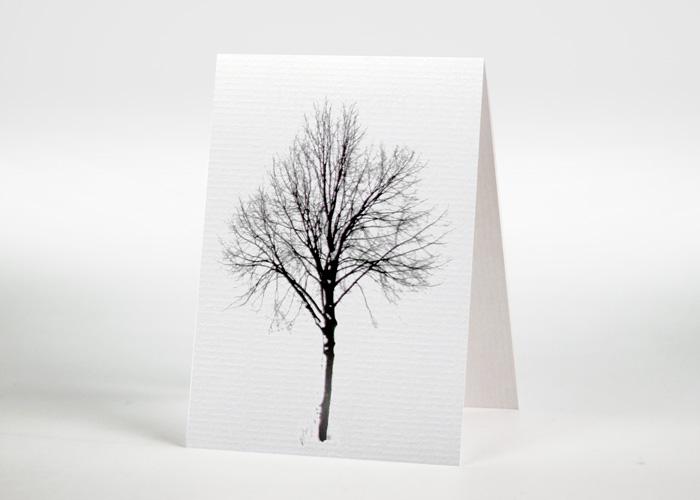 Baum im Winter - Sterbebildchen Motiv F-34