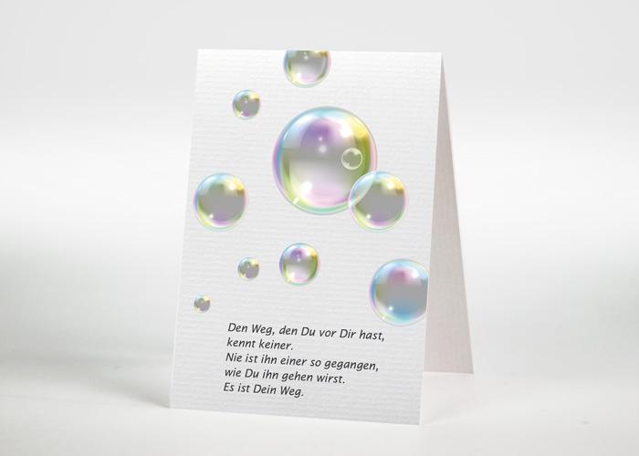 Seifenblasen - Trauerkarte Motiv F-41