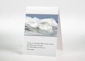 Brechende Welle auf dem Meer - Sterbebildchen Motiv F-50