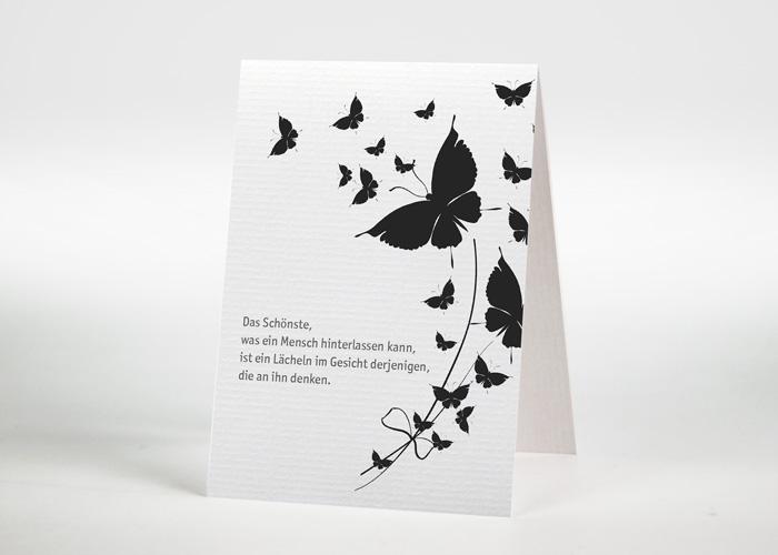 Aufsteigende Schmetterlinge - Sterbebildchen Motiv S-42