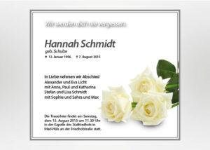 Weiße Rose - Traueranzeige Motiv B-04