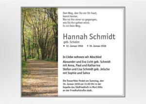 Sonnendurchfluteter Waldweg - Traueranzeige Motiv F-10