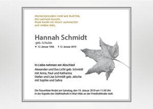Herbstblatt - Traueranzeige Motiv F-31