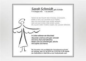 Engel mit ausgebreiteten Flügeln - Traueranzeige Motiv S-04