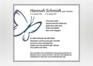 Gezeichneter Schmetterling - Traueranzeige Motiv S-18