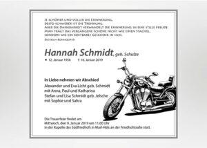 Gezeichnetes Motorrad - Traueranzeige Motiv S-19