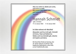 Regenbogen - Traueranzeige Motiv S-43