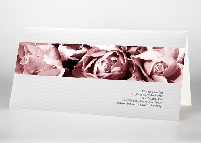 Nahaufnahme von Rosenblüten - Trauerkarte Motiv B-01