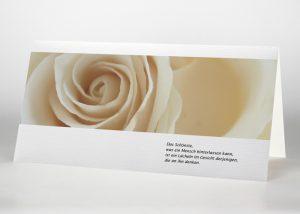 Gelbe Rose - Trauerkarte Motiv B-02