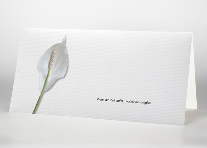 Calla - Trauerkarte Motiv B-07