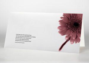 Gerbera - Trauerkarte Motiv B-08