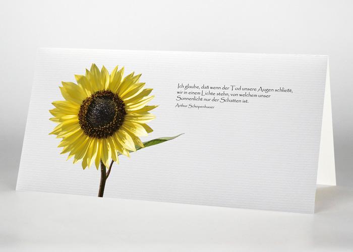 Sonnenblume - Trauerkarte Motiv B-09