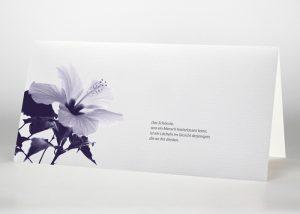 Hibiskus - Trauerkarte Motiv B-14