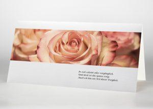 Rosa Rosen - Trauerkarte Motiv B-20