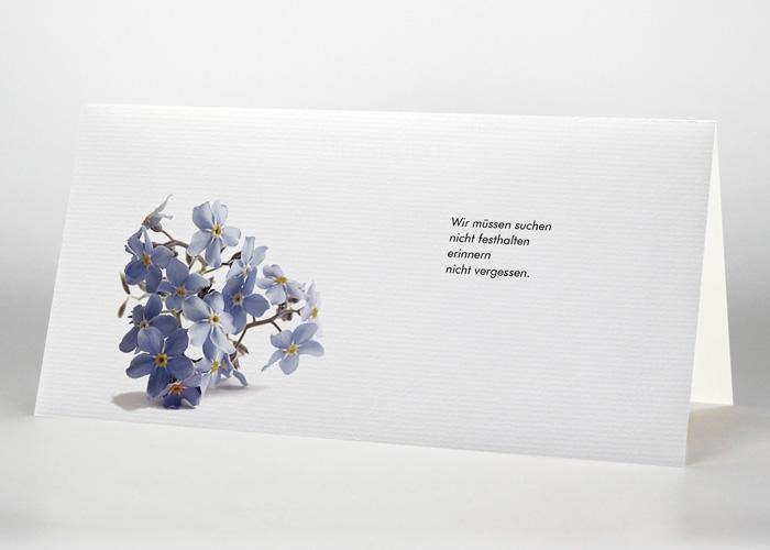 Vergißmeinnicht - Trauerkarte Motiv B-25