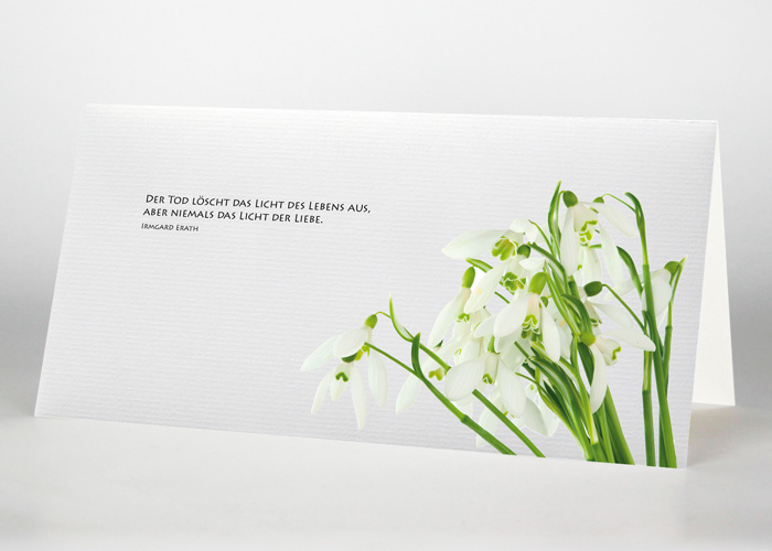Schneeglöckchen - Trauerkarte Motiv B-26