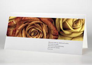 Rote und gelbe Rose - Trauerkarte Motiv B-27