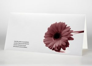 Rote Gerbera - Trauerkarte Motiv B-30