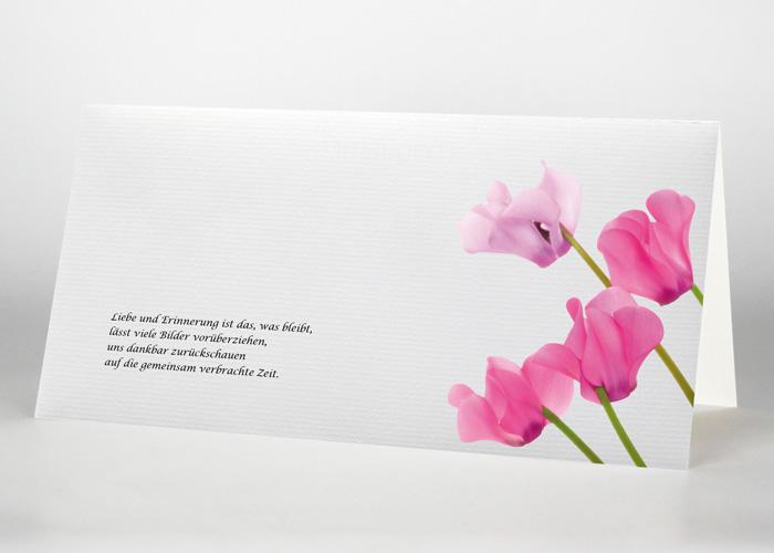 Alpenveilchen - Trauerkarte Motiv B-32
