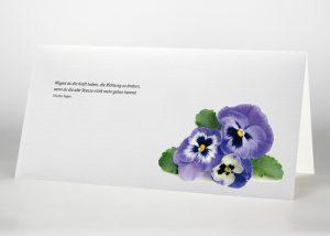 Stiefmütterchen - Trauerkarte Motiv B-33