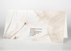 Samen einer Pusteblume - Trauerkarte Motiv B-34