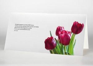 Ein Strauß Tulpen - Trauerkarte Motiv B-35