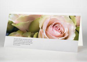 Rosafarbene Rosen - Trauerkarte Motiv B-36