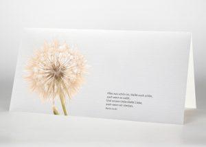 Pusteblume - Trauerkarte Motiv B-37