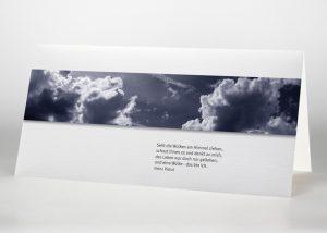 Dunkler Himmel mit Wolken - Trauerkarte Motiv F-01