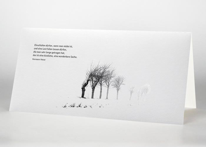 Heidelandschaft - Trauerkarte Motiv F-07